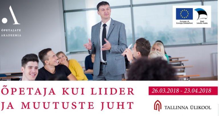 f85f0ffaa31 Tasuta koolitus uuendusmeelsetele õpetajatele Tallinna Ülikoolis