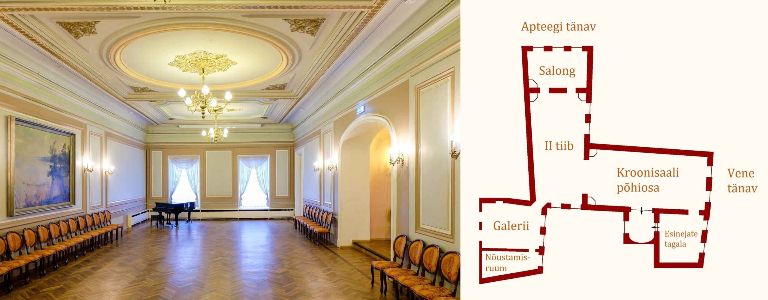 Tallinna Õpetajate Maja Kroonisaal. Redigeerimine: Kadri Kuurberg 2020
